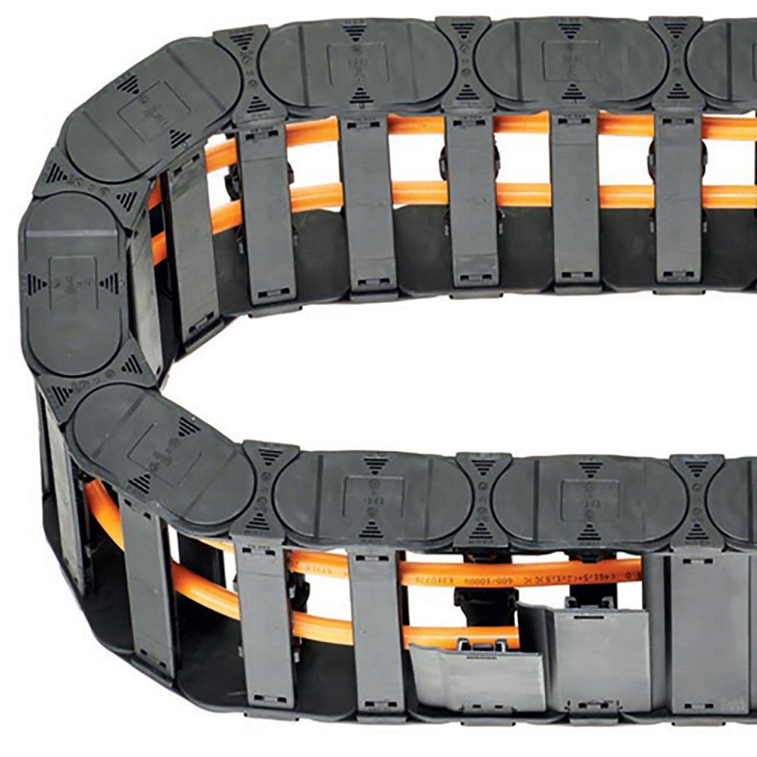 SYNCE009408 /negro cable pl/ástico Arrastrar Cadena Cable Carrier 1/m longitud para CNC Sourcingmap/