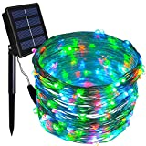 Solar String Lights, Dolucky 150 LED 55ft 8 Modes Solar Powered Copper Wire Fairy Lights Outdoor Waterproof (Multicolor)
