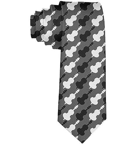 Hombre Blanco y negro Violonchelo Color múltiple Corbatas Novedad ...
