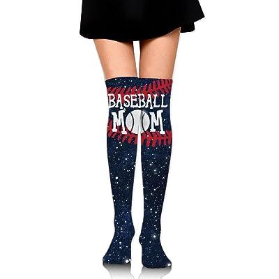 WRE8577 Women's Knee High Sport Long Sock Baseball Mom Lace For Baseball Sport Long Stockings