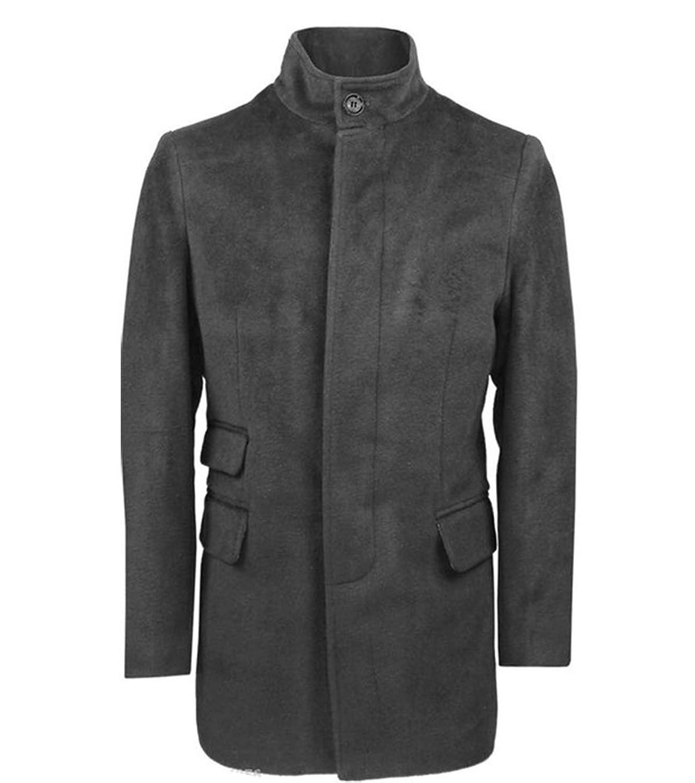 Herren Designer Warm Winter Wolle Mantel lange Trench Coat Jacke Größe