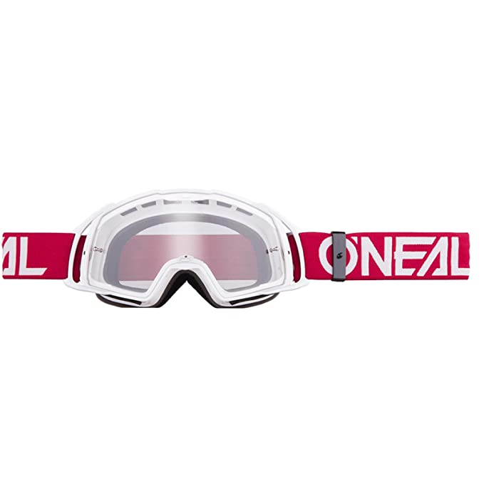 O'Neal B-20 Goggle Flat Crossbrille Klar Motocross DH Downhill MX Anti-Fog Glas, 6023-3, Farbe blau