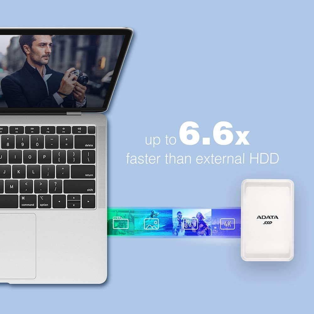 Adata Sc685 500 Gb Externe Solid State Drive Mit Usb Computer Zubehör