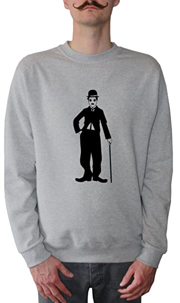 Mister Merchandise Sudadera para Hombre Charly Charlie Chaplin Suéter Sweater, Tamaño: XXL, Color: Gris: Amazon.es: Ropa y accesorios