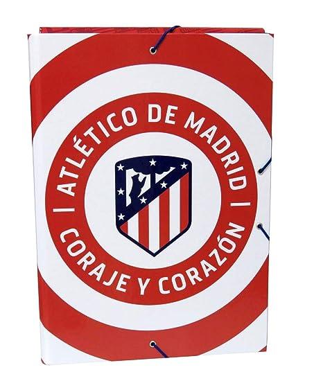 Atletico DE Madrid Carpeta con Solapas tamaño Folio: Amazon ...