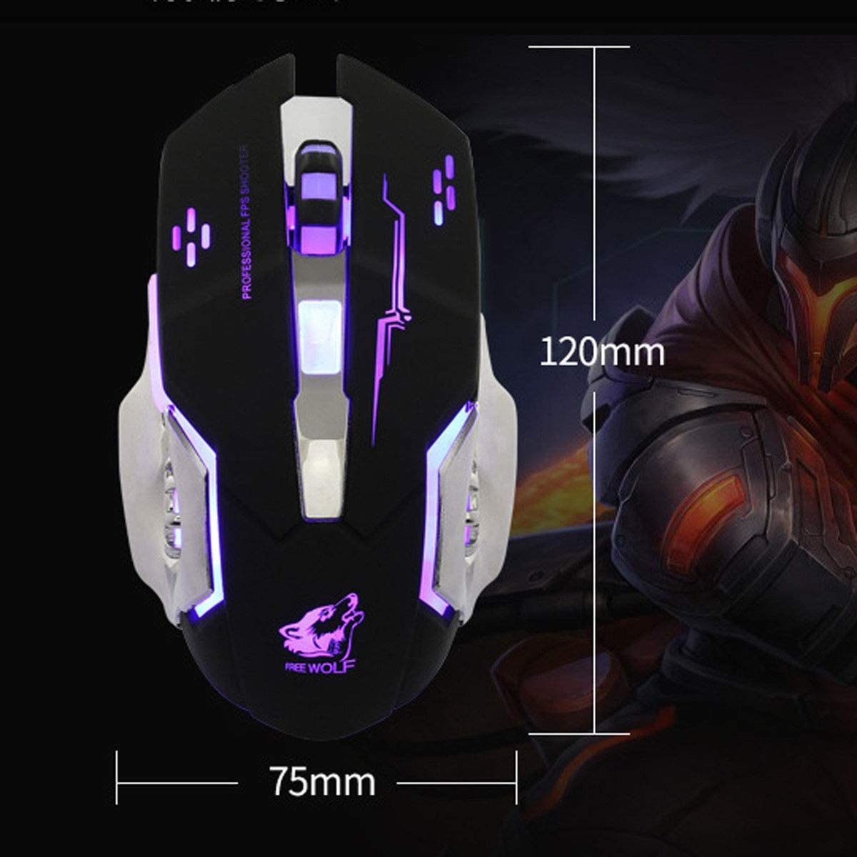 Wired V5 Silent USB Ergonomic 4000DPI Optical Gaming Mouse For PC Computer