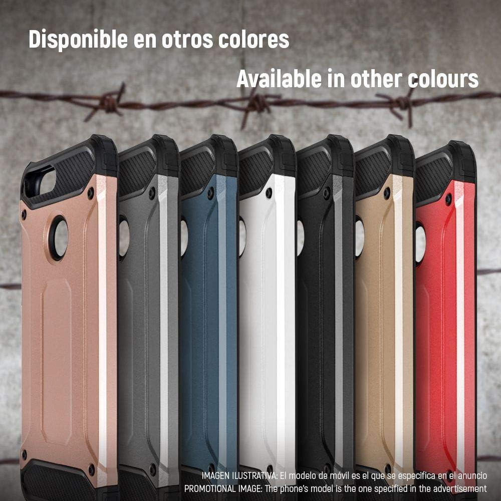 Funda para Huawei P Smart//Enjoy 7s Color Dorado Techcool/® I Carcasa - Serie 2 in 1 Armor Case Funda dise/ño Armor Case 2 en 1 Gran Resistencia Ante Golpes