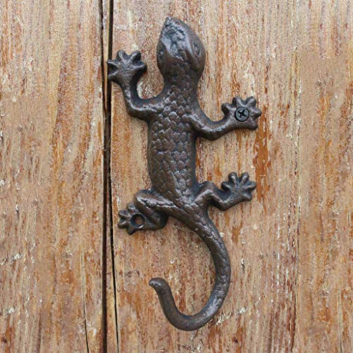 C.K.H. European American Country Retro Cast Iron Wrought Iron Gecko Hook Wall Hanging Wall Decoration Home Decoration Hook