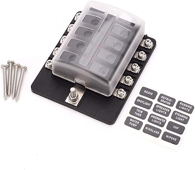 IPOTCH 10 Sets 30A-80A Relay Base Holder 5 Pin Socket with 50 Terminals 6.3mm Kits