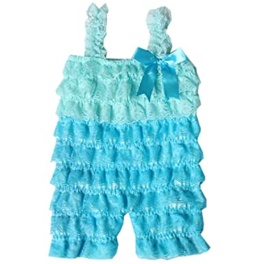 65ea43f0b Amazon.com: Zcaynger Baby Girls Clothes Lace Romper Spaghetti Ruffle Tiered  Jumpsuit: Clothing