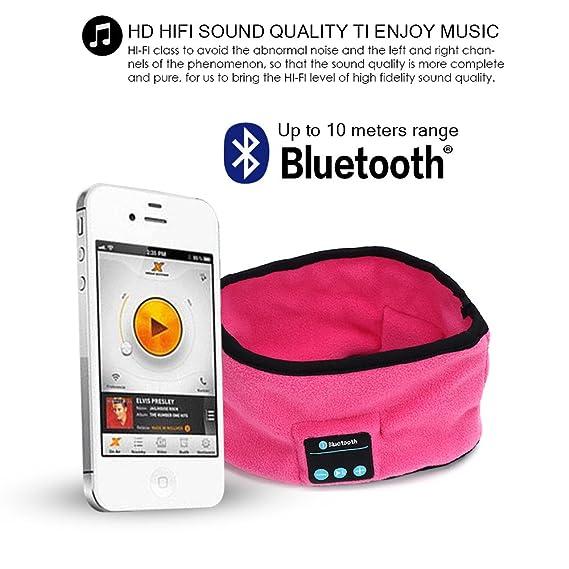 FABSELLER Bluetooth Headband Wireless Bluetooth Music Headphone Headset Sport Jogging Running Yoga Sleeping Gym Headband Black