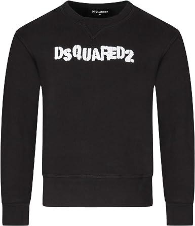 DSQUARED2 - Sudadera negra 100% algodón DQ03WN D00XL DQ900 * 10 Años: Amazon.es: Ropa y accesorios