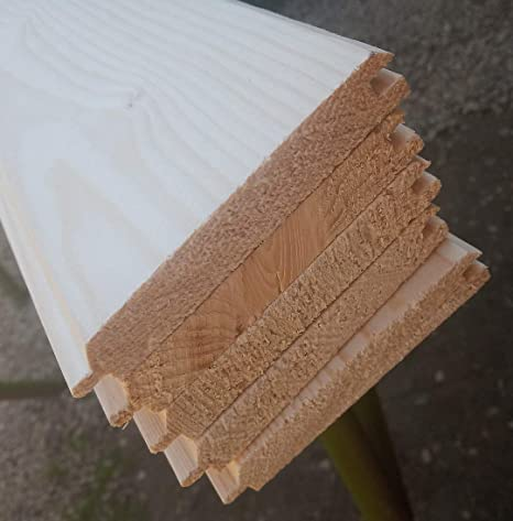 AZZAP Profilbretter Profilholz Fassadenprofil Fasebretter 15x90mm L/änge:100cm Holz 20 St.
