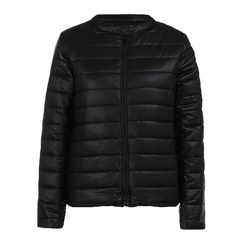Kukul Abrigo negro clásico para Mujer Nuevo Otoño invierno Abajo chaqueta