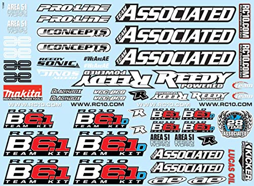 Team Associated Decal Sheet: B6.1, B6.1D