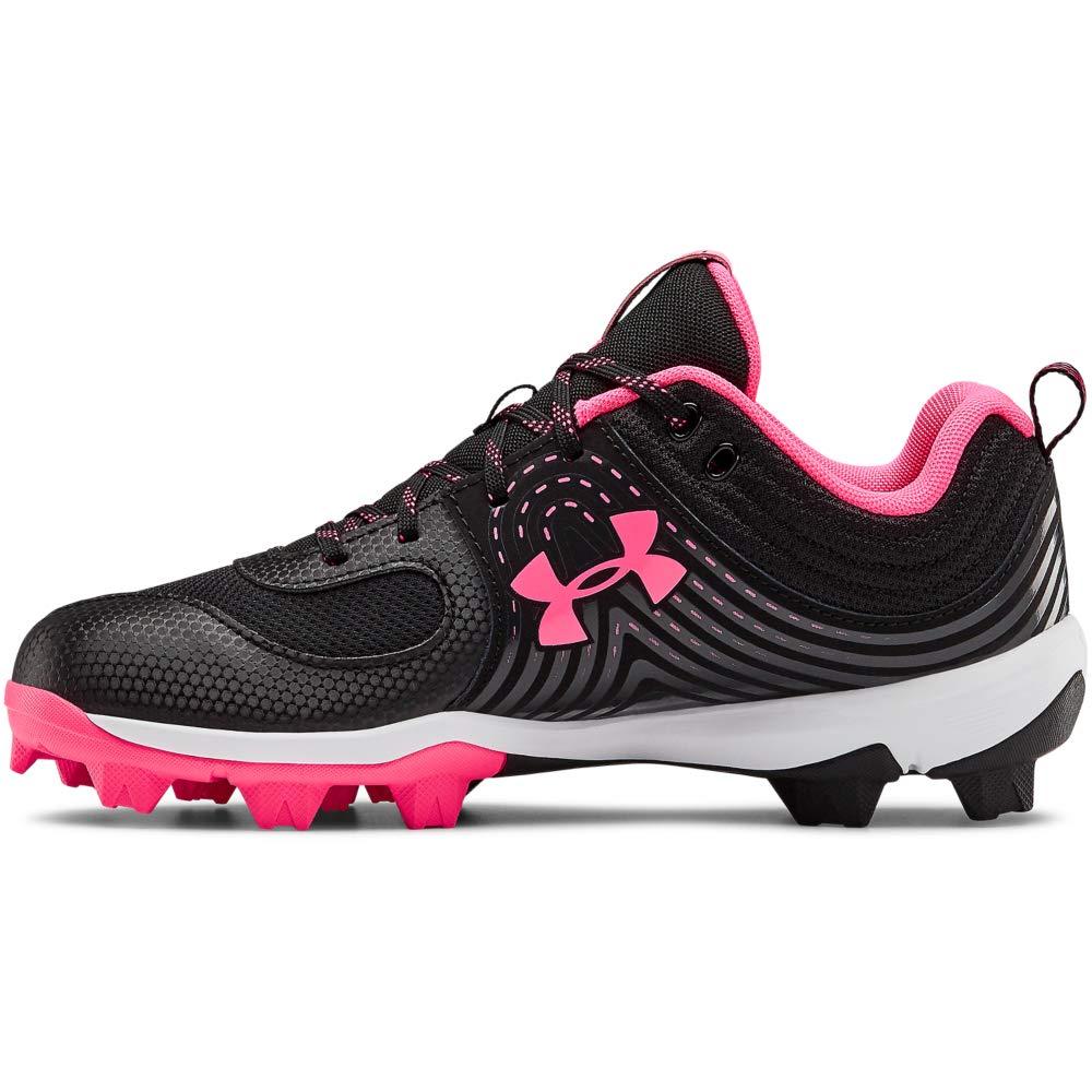 Under Armour Women's Glyde RM Softball Shoe, Black//Cerise, 9.5 by Under Armour