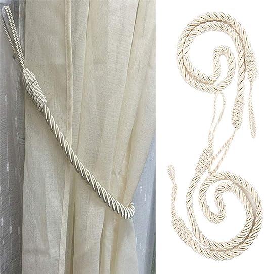 Sliver Gray Home Office Decorative Drapes Weave Holdbacks Holders European Style 1 Pair IMFair Magnetic Curtain Tieback Holdback Tie Back Buckles Home Window Drape Accessory