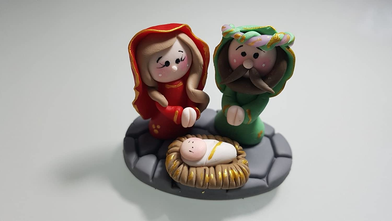 Belen Pesebre Realizado a mano en Porcelana fria Navidad: Amazon.es: Handmade