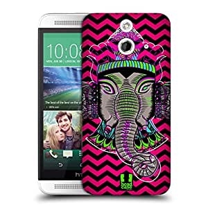 Head Case Designs Chevron Elephantism Protective Snap-on Hard Back Case Cover for HTC One E8 LTE E8 Dual SIM