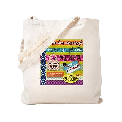 ca3a80a186d4 CafePress - Headed To Nursing School - Natural Canvas Tote Bag, Cloth  Shopping Bag