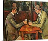 "Paul Cezanne Premium Thick-Wrap Canvas Wall Art Print entitled The Card Players, 1893 96 24""x20"""