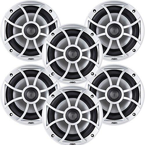"Wet Sounds Bundle: 3 pair XS 650 Series Silver Grill 6.5"""