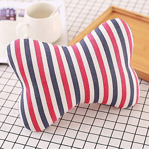 Price comparison product image YLCOYO Cartoon Cotton and Linen Car Head Pillow Jewelry Bone Pillow Neck Leaning (C)