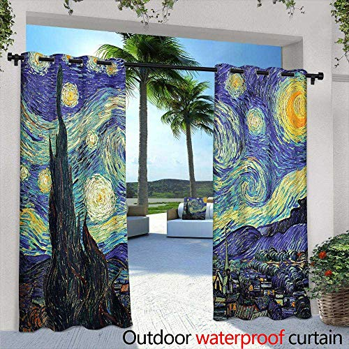(Lightly Outdoor Privacy Curtain for Pergola,Uhoo Bathroom Suits & Shower Curtains Floor Mats and Bath Towels Copacabana Beach in Rio de Janeiro, Brazil for Bathroom,W72 x L84 Silver Grommet Top Drape)