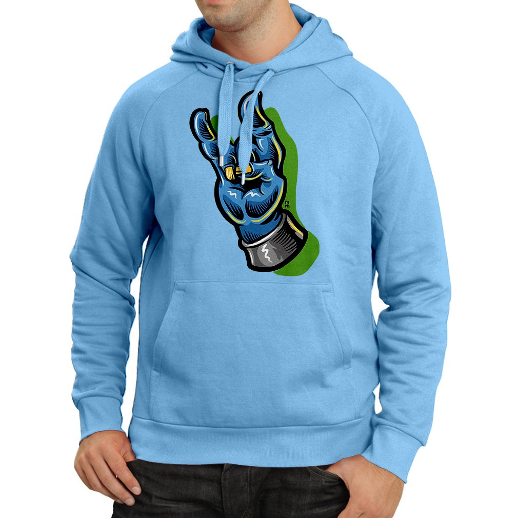 Heavy Metal Sign Hoodie Zombie Hand A Rock and Roll Symbol Sign of The Horns