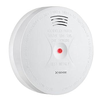 X-Sense Detector de Humo y Monóxido de Carbono CO, y Alarma Contra Incendio con Sensor Fotoeléctrico Alimentado por Batería; Reinicio Automático, ...