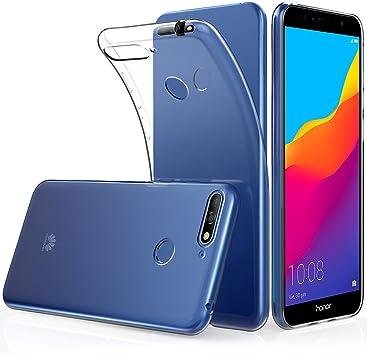 Peakally Funda Huawei Honor 7A, Transparente Silicona Funda para ...