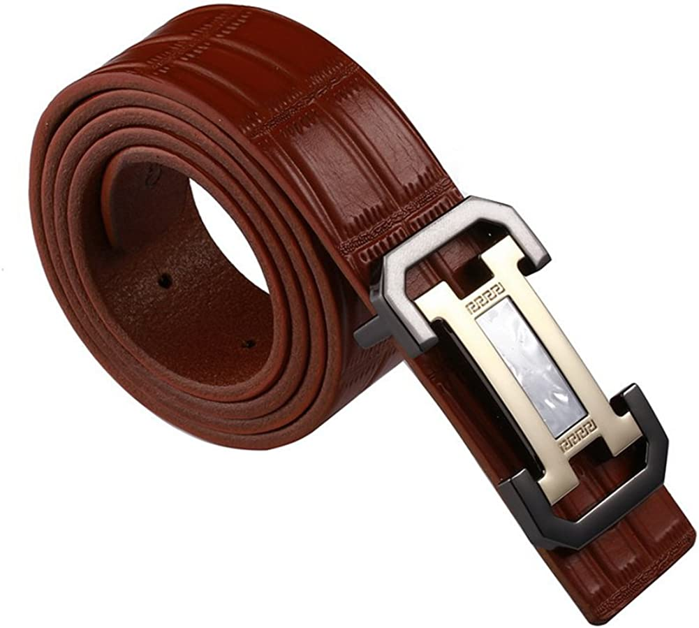 ICEGREY Men/¡/¯s Leather Belt Buckle Belts Emboss Casual Jeans Belt