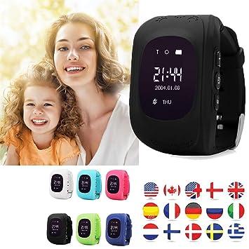 TKSTAR Niños Smart Watch Phone GPS reloj inteligente impermeable GPS/SIM Tracker Kids Reloj de pulsera niño niña Teléfono antipérdida pulsera pulse
