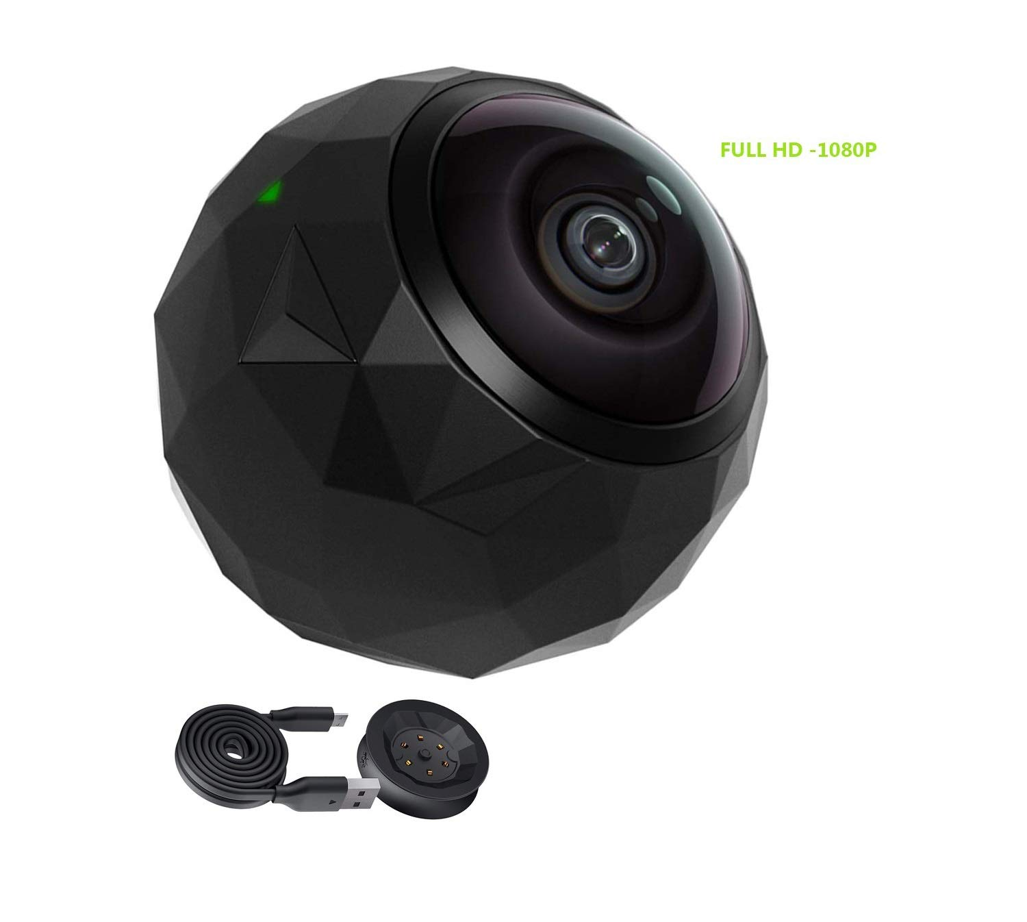 360fly 360° HD Video 1080p Camera -Dust-Proof, Shockproof, Water Resistant- (Renewed) by 360fly Kit