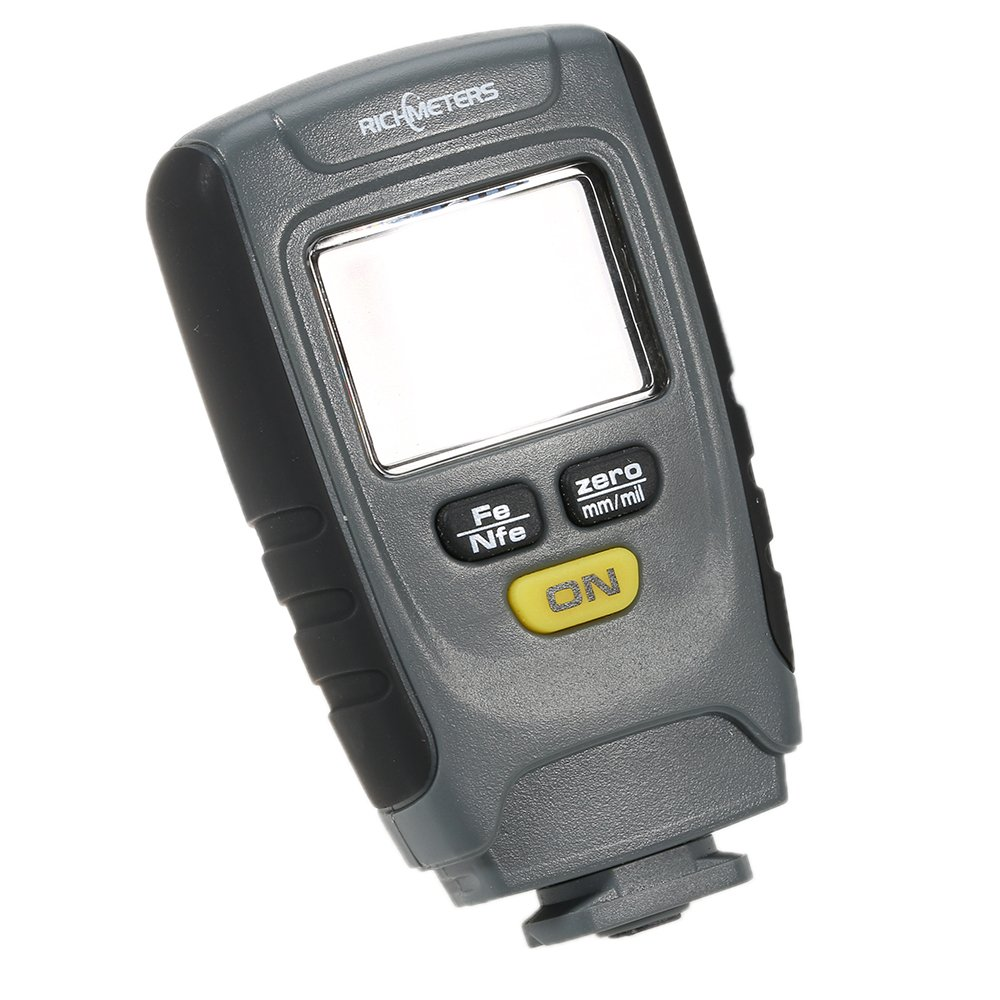 Grandey RM660 Digital Paint Coating Thickness Gauge LCD feeler gauge Tester Fe/NFe 0-1.25mm for Car Instrument Iron Aluminum Base Metal by Grandey (Image #9)
