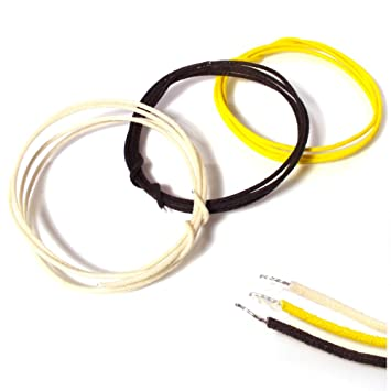 guitar wire 3x 1 meter lengths of cloth 22 gauge vintage waxed for bass pickup wiring diagrams guitar wire 3x 1 meter lengths of cloth 22 gauge vintage waxed for pickups, pots