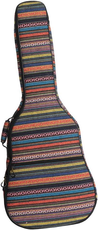 SM SunniMix Estuche Acolchado Para Estuche Para Guitarra Con Accesorio De Bolsillo Lateral Para Guitarra - Vistoso # 2, como se describe: Amazon.es: Instrumentos musicales