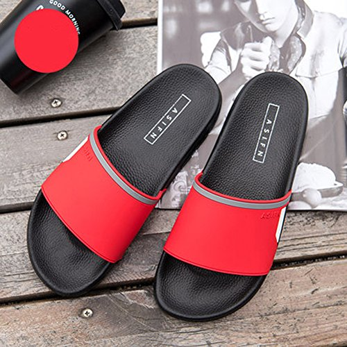 Shoes House Sandals Red for Slip Shower Poolside Non and Women Men Bathroom Slide Slippers zBdOqnwYRq