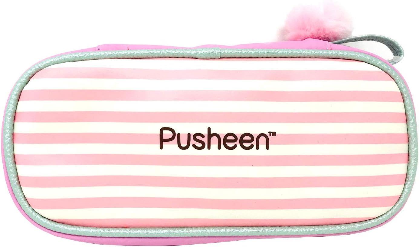 Neceser Pusheen Estuche ovalado alargado Pusheen Bow Niña, Estuche infantil escolar Color Rosa 24cm (PS100302): Amazon.es: Oficina y papelería