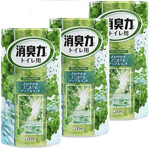 【まとめ買い】 トイレの消臭力 消臭芳香剤 トイレ用 トイレ アップルミントの香り 400ml×3個