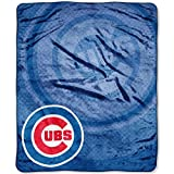 "MLB Chicago Cubs Retro Plush Raschel Throw, 50"" x 60"""