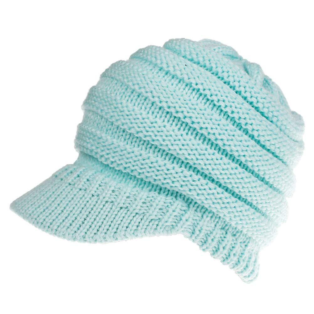 VAMEI Mujer Sombreros de Invierno Beanie Gorro de Punto y el Agujero Knit  Ponytail Beanie Cálido 2d2e358cc54