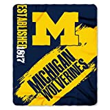 NCAA Michigan Wolverines Painted Printed Fleece Throw, 50' x 60'