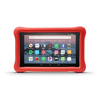pretty nice 3a721 b6cac Amazon Kid-Proof Case for Amazon Fire HD 8 Tablet (Compatible with 7th and  8th Generation Tablets, 2017-2018 Releases), Punch Red