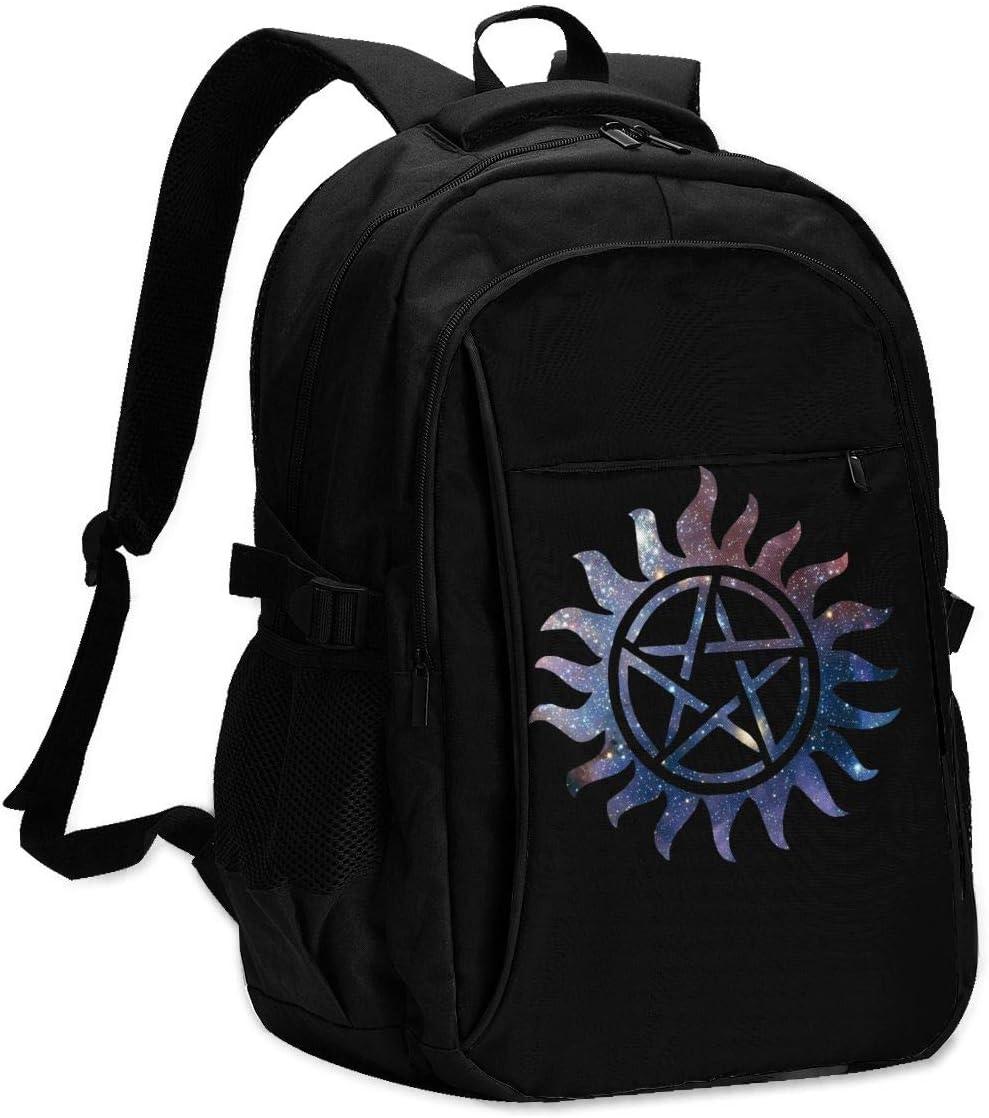 Supernatural Anti Possession Symbol Unisex Packsack Travel Rucksack USB Laptop Bag