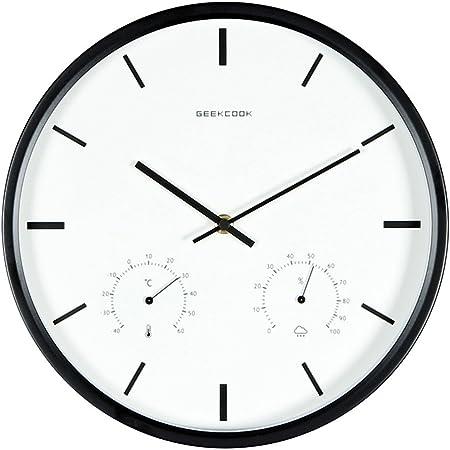 Zlovem Horloge Murale Silencieux A Quartz Silencieux Facile A Lire
