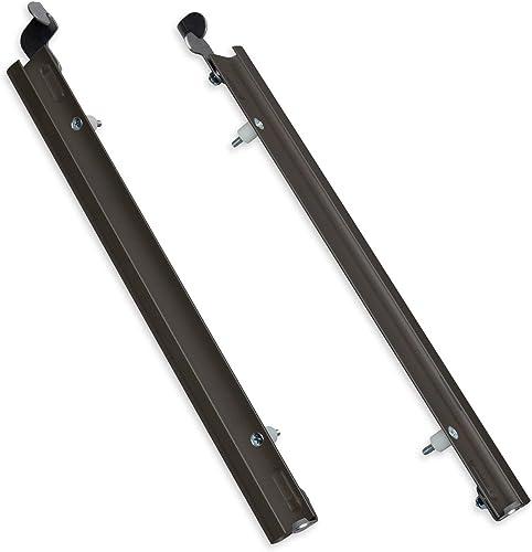 Plexidor Medium Sliding Track with Flip Lock for Pet Doors in Bronze