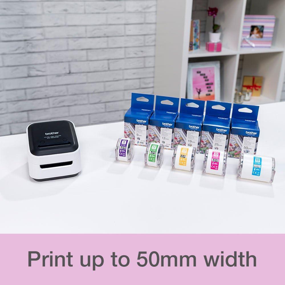 Brother Vc 500w Etikettenmacher Vollfarb Etikettierer Fotodrucker Kabellos Desktop Zink Zero Ink Drucktechnologie Bürobedarf Schreibwaren