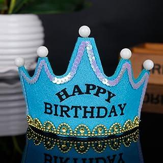 only y Solo y New LED Crown Hat Decorazioni per Feste di Compleanno Kids Shower Puntelli per Foto