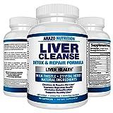 Liver Cleanse Detox & Repair Formula – 22 Herbs Support Supplement: Milk...